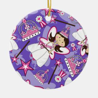 Princesa real linda Pattern Ornament Adorno De Navidad