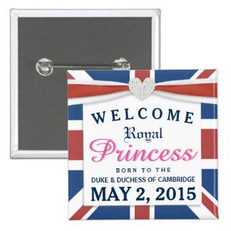 Princesa real - niña agradable de Guillermo y de Pin Cuadrada 5 Cm