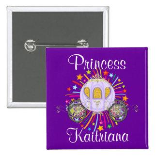 Princesa real pin cuadrado