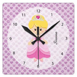 Princesa Reloj Cuadrado