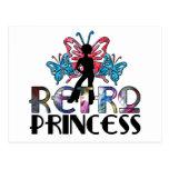 Princesa retra - hada de la mariposa del chica del tarjeta postal