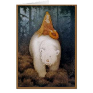 Princesa Riding rey oso polar Tarjeta De Felicitación