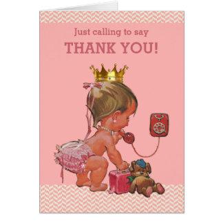 Princesa Ringing To Say Thank usted fiesta de Tarjeta Pequeña