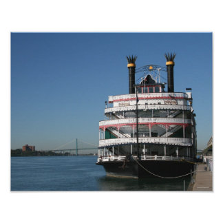 Princesa Riverboat de Detroit Poster