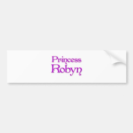 Princesa Robyn Etiqueta De Parachoque
