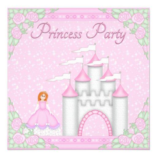 Princesa roja del pelo y princesa rosada Party del Comunicado Personal