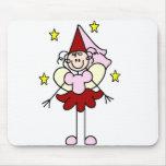 Princesa roja/rosada Mousepad Tapetes De Raton