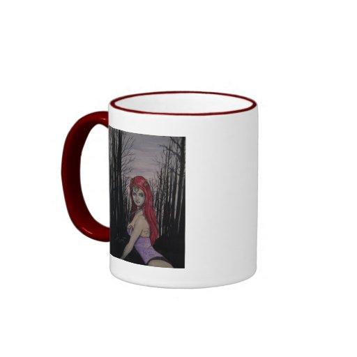 Princesa roja taza a dos colores