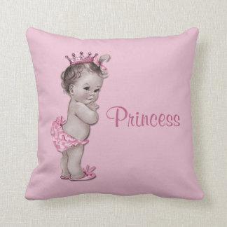 Princesa rosa bebé del vintage cojín