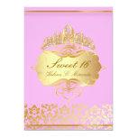Princesa/rosa del dulce 16/de PixDezines+damasco Invitación Personalizada
