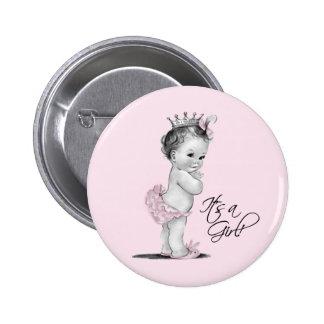 Princesa rosada adorable Its un botón del chica Pins