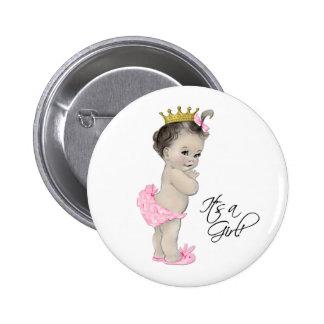 Princesa rosada adorable Its un botón del chica Pin Redondo De 2 Pulgadas