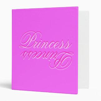 "Princesa rosada Binder Carpeta 1"""