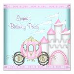 Princesa rosada Birthday de los chicas del Comunicado