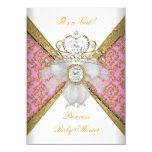 Princesa rosada blanca Damask del chica de la Invitación 11,4 X 15,8 Cm