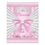 Princesa rosada blanca Tiara del chica de la Invitación 10,8 X 13,9 Cm
