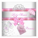 Princesa rosada blanca Tiara Magical del chica de Invitación Personalizada