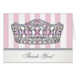 Princesa rosada bonita Thank You Card Felicitación