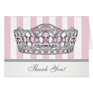 Princesa rosada bonita Thank You Card Tarjeta Pequeña
