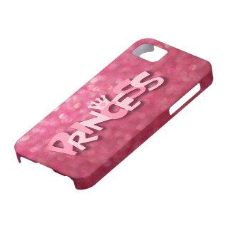 Princesa rosada brillante linda Bokeh iPhone 5 Carcasa