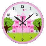 Princesa rosada Castle Reloj