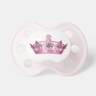 Princesa rosada Crown Baby Pacifier Chupetes Para Bebés