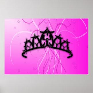 Princesa rosada Crown de Viking Posters