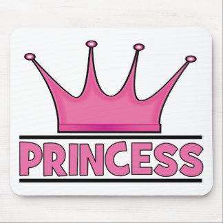 Princesa rosada de encargo alfombrilla de raton