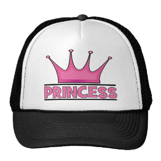 Princesa rosada de encargo gorros