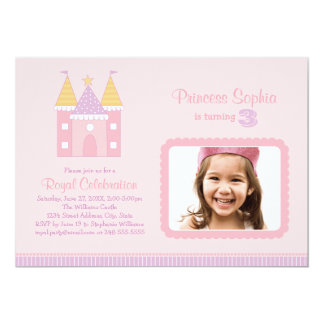 Princesa rosada de la invitación el   de la fiesta