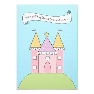 Princesa rosada de la invitación el   del