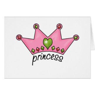 Princesa rosada de la tiara tarjeta de felicitación