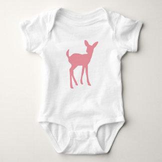 Princesa rosada del arbolado de los ciervos body para bebé