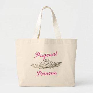 Princesa rosada del desfile bolsa tela grande