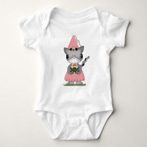 Princesa rosada del gatito body para bebé