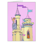 Princesa rosada dulce Castle - tarjeta de felicita