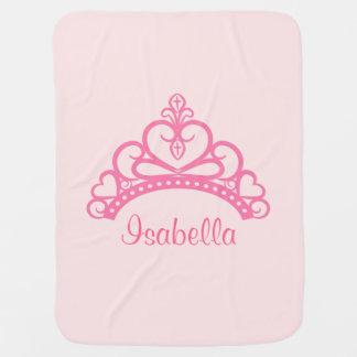 Princesa rosada elegante Tiara, corona para las ni Mantas De Bebé