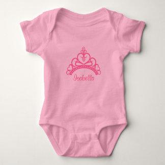 Princesa rosada elegante Tiara, corona para las Polera