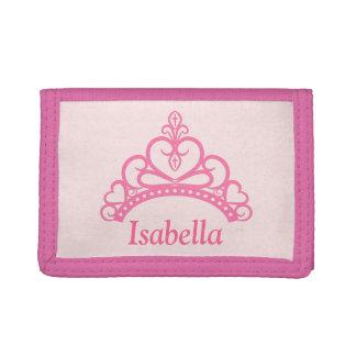 Princesa rosada elegante Tiara, corona para los ch