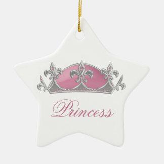 Princesa rosada Faux Crown el chispear con los dia Ornamentos De Reyes