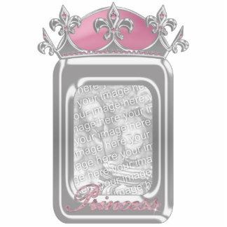 Princesa rosada Faux Crown el chispear con los dia Fotoescultura Vertical