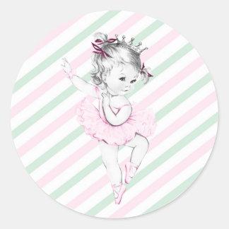 Princesa rosada fiesta de bienvenida al bebé de la etiquetas