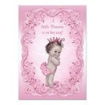 Princesa rosada fiesta de bienvenida al bebé del invitación