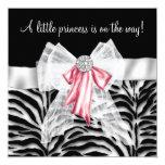 Princesa rosada fiesta de bienvenida al bebé del comunicado personalizado