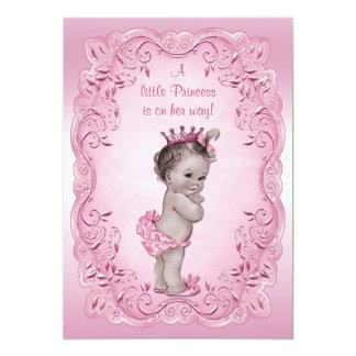 """Princesa rosada fiesta de bienvenida al bebé del invitación 5"""" x 7"""""""