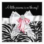 Princesa rosada fiesta de bienvenida al bebé del n comunicado personalizado