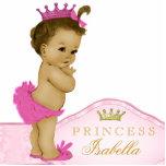 Princesa rosada fiesta de bienvenida al bebé fotoescultura vertical