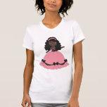 Princesa rosada Girl 3 del vestido Camiseta