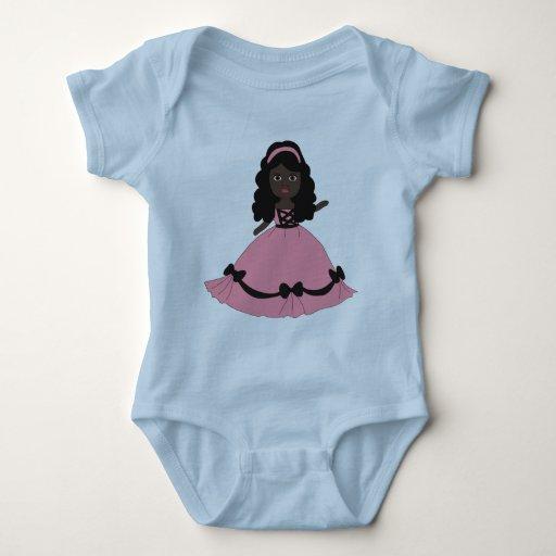 Princesa rosada Girl 3 del vestido Camisetas