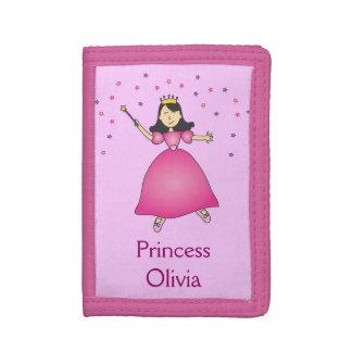 Princesa rosada Girls Wallet de la bailarina